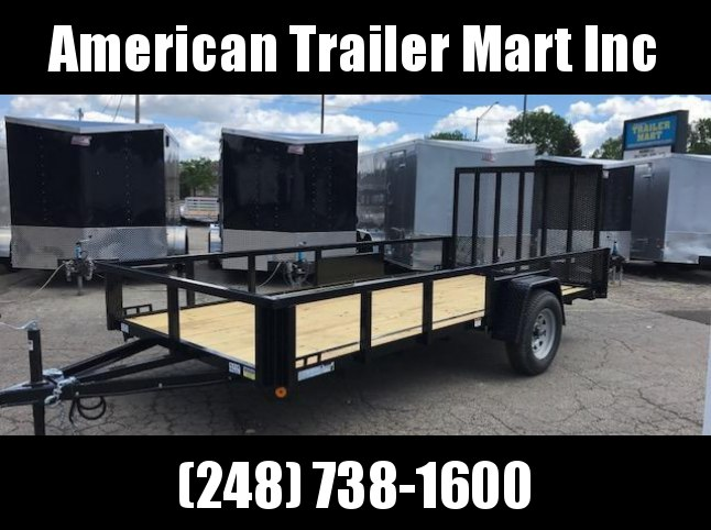 6 X 14 Single Axle Open Utility Trailer