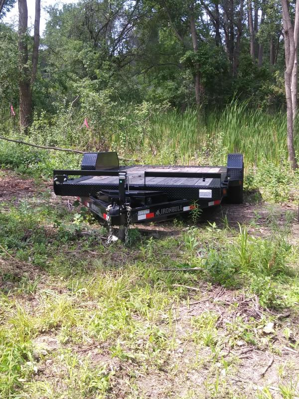 83 X 16 IRON BULL Tilt Low Pro Equipment Trailer 10K