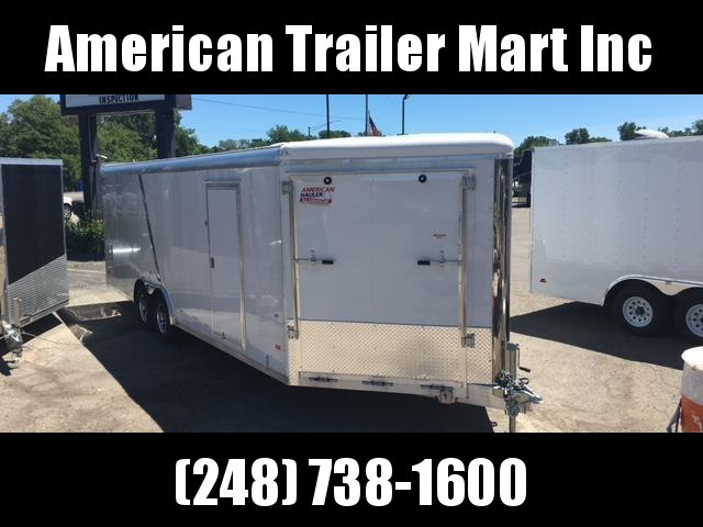8.5 X 26 Tandem Axle Enclosed Car Hauler/ Snowmobile/All Sport Trailer
