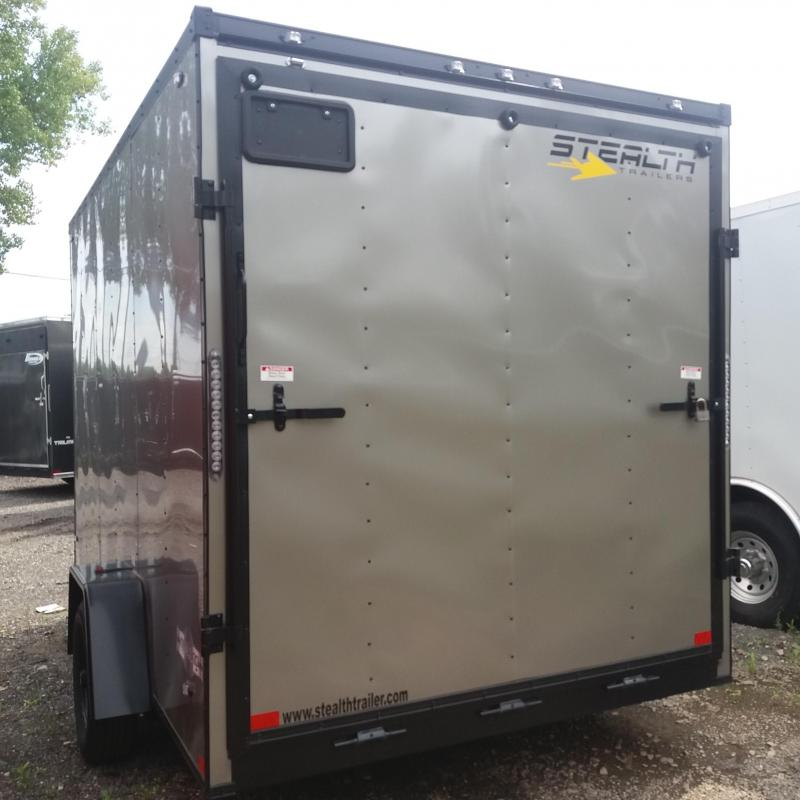 7 X 12 Single Axle Enclosed Blackout Trailer