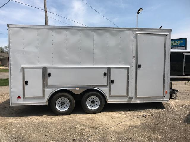 8.5 X 16 Tandem Axle Enclosed Tool Box Trailer