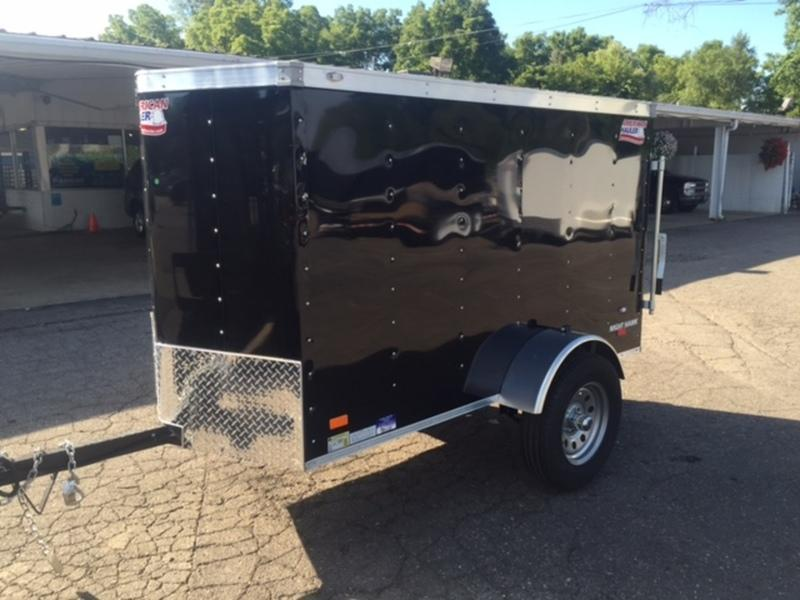 4 X 8 Single Axle Enclosed Trailer