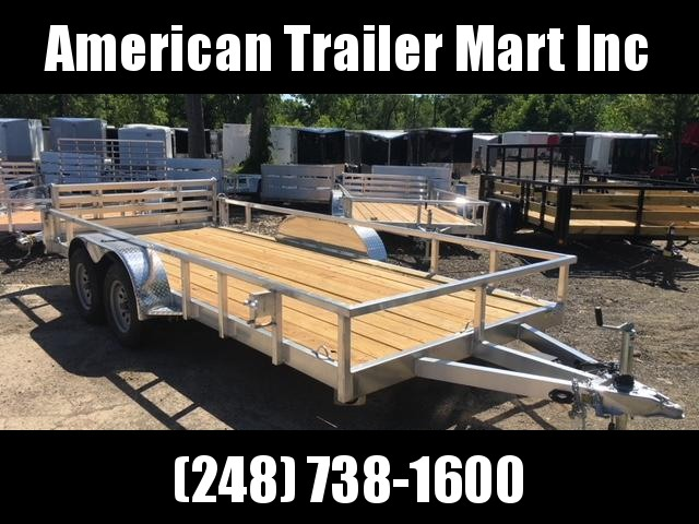 6.5 X 16 Open Tandem Axle Utility Trailer