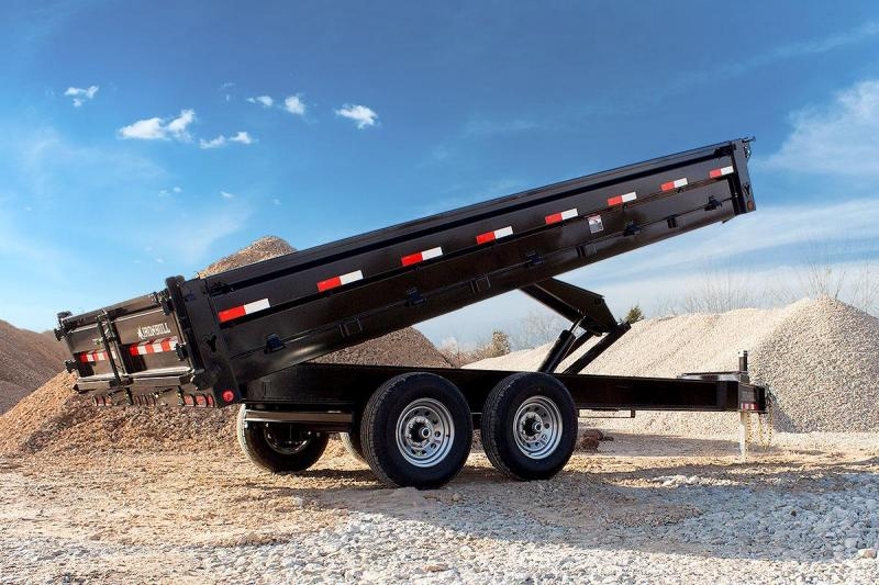 96 x 14 IRON BULL Deckover Dump Trailer 14k