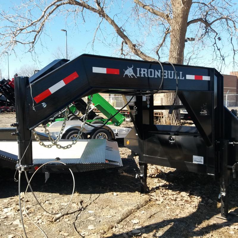 102 X 32 IRON BULL Low Pro Open Gooseneck Trailer 30K
