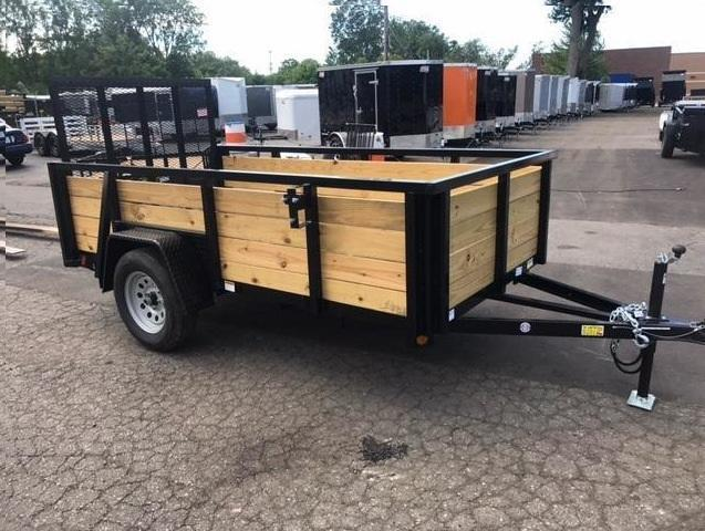 5 X 10 Single Axle Open Utility Trailer