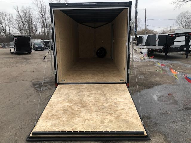 7 X 18 Tandem Axle Enclosed Trailer Black Out