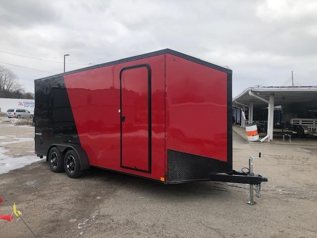 7 X 18 Tandem Axle Enclosed Trailer Blackout Pkg