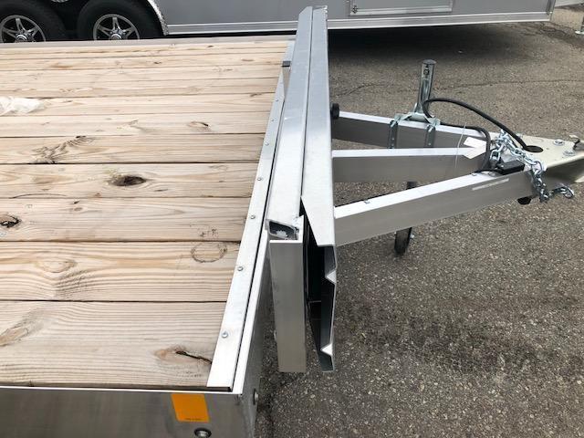 7 X 18 Open Aluminum Top Quad Trailer