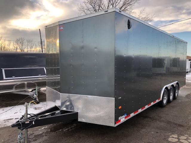 8.5 X 24 Tri-Axle Enclosed Car Hauler Trailer