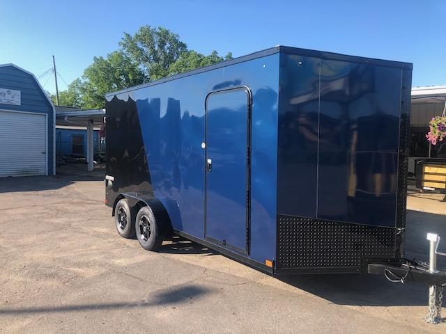 7 X 16 Tandem Axle Enclosed Trailer Blackout Pkg in Ashburn, VA