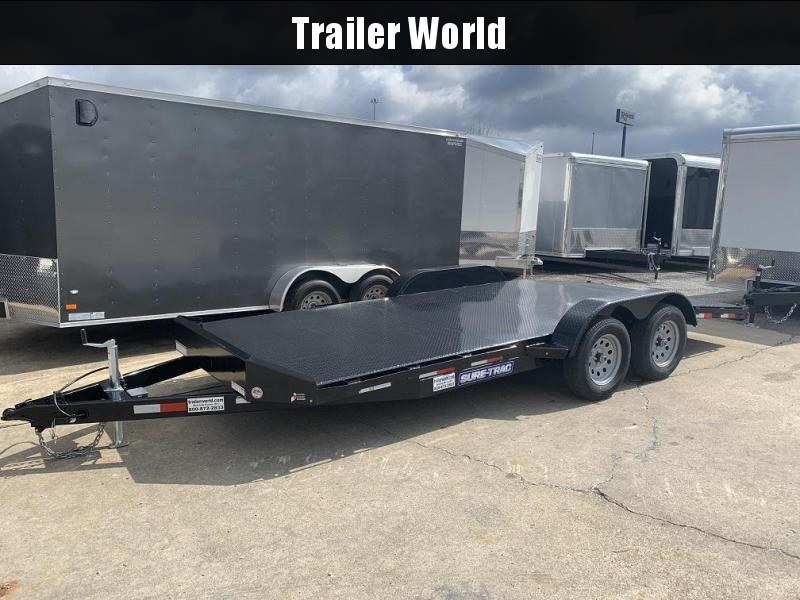 2018 Sure-Trac 18' Steel Deck Car Hauler Trailer