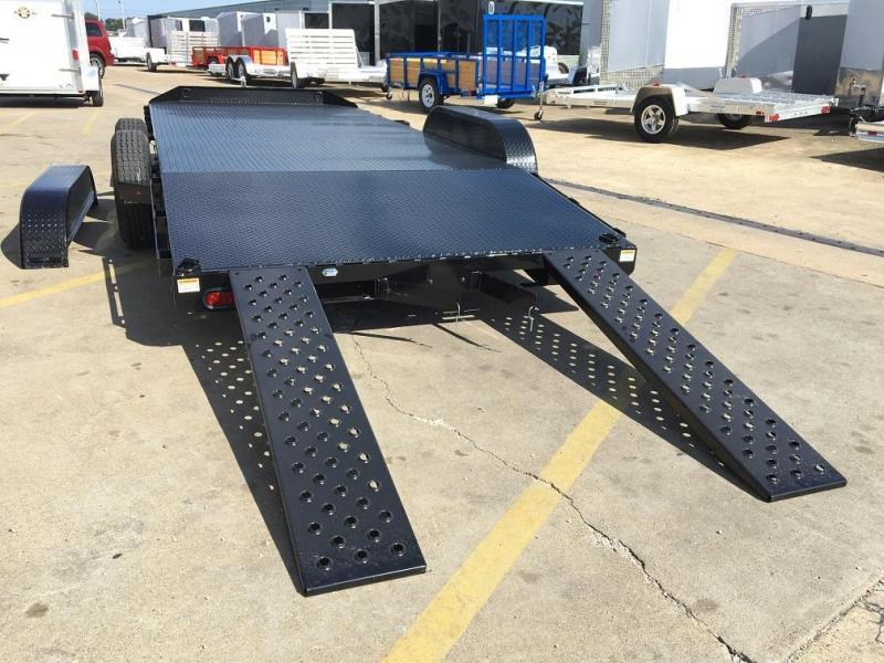 2018 Sure-Trac 18' Steel Deck Car Hauler Trailer