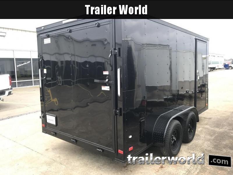 2019 CW 7' x 14' x 6.5' Vnose Enclosed Trailer Black Out