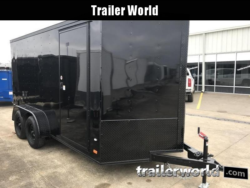 2019 CW 7' x 14' x 6.5' Vnose Enclosed Trailer Black Out