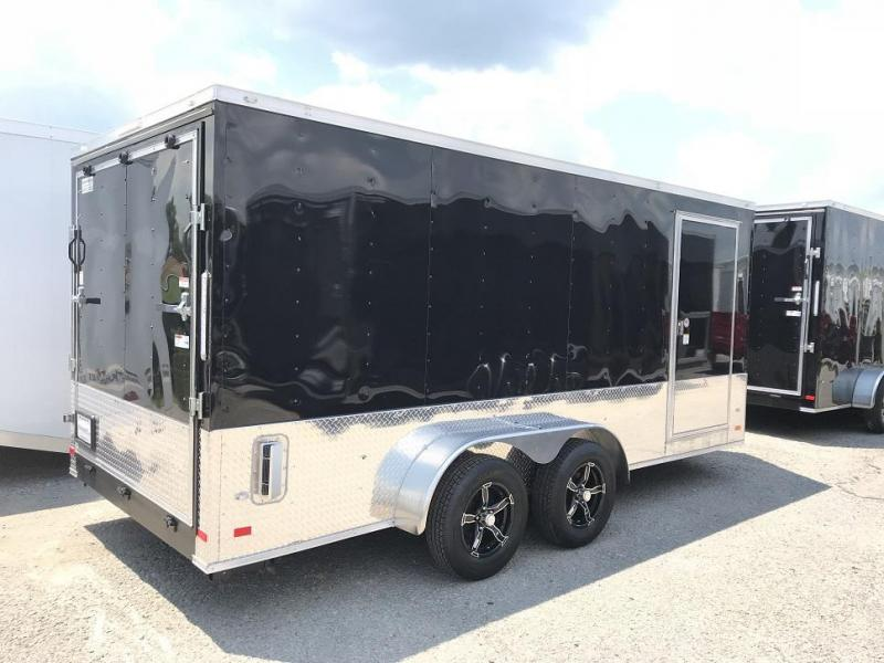 "2018 CW 7' x 16' 6'3"" Vnose Enclosed Cargo Trailer"