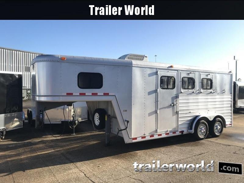 1994 Hart Aluminum Gooseneck 3 Horse Trailer Slant Load