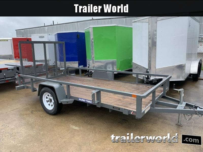2017 Sure-Trac 6' x 12' Single Axle Utility Trailer Spring Assist Gate