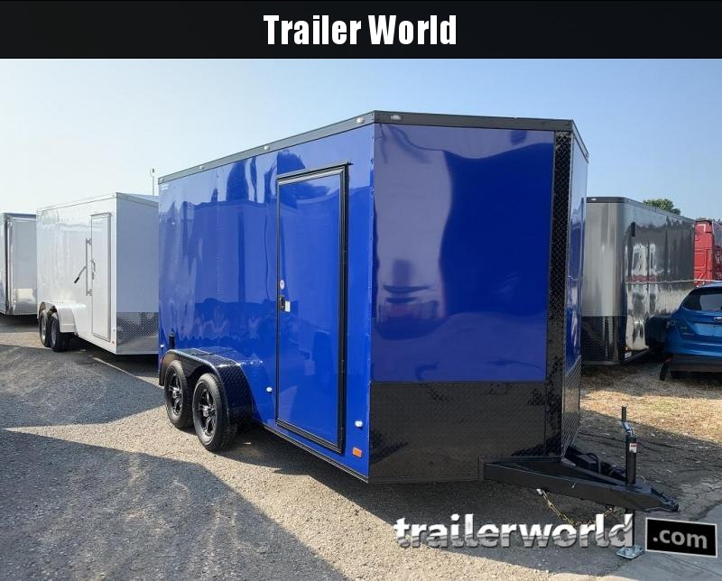 2020 CW 7' x 14' x 7' Vnose Enclosed Trailer Black Out
