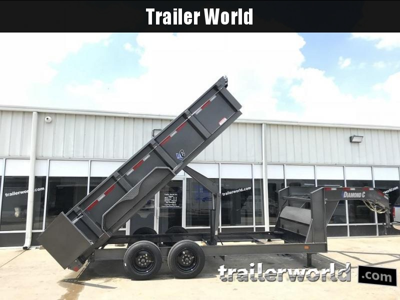 2018 Diamond C  24LPD 16' Gooseneck Dump Trailer 8k Axles