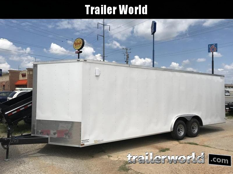 2019 Lark 24' Enclosed VNose Car Hauler Trailer 10k GVWR
