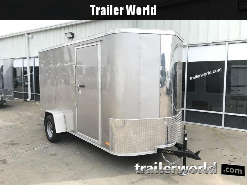 "2018 CW 6' x 12' x 6'6"" Vnose Enclosed Cargo Trailer w/ D-Rings"