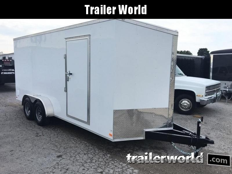 2018 CW 7' x 16' x 7' Enclosed Cargo Trailer 10k GVWR Double doors