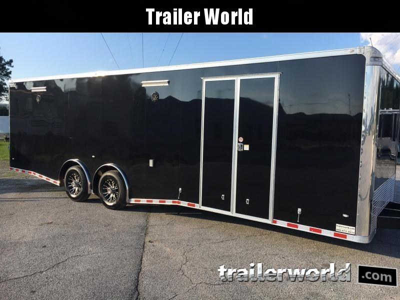 2018 CW 28' Spread Axle Racing Enclosed Car Trailer 14k GVWR