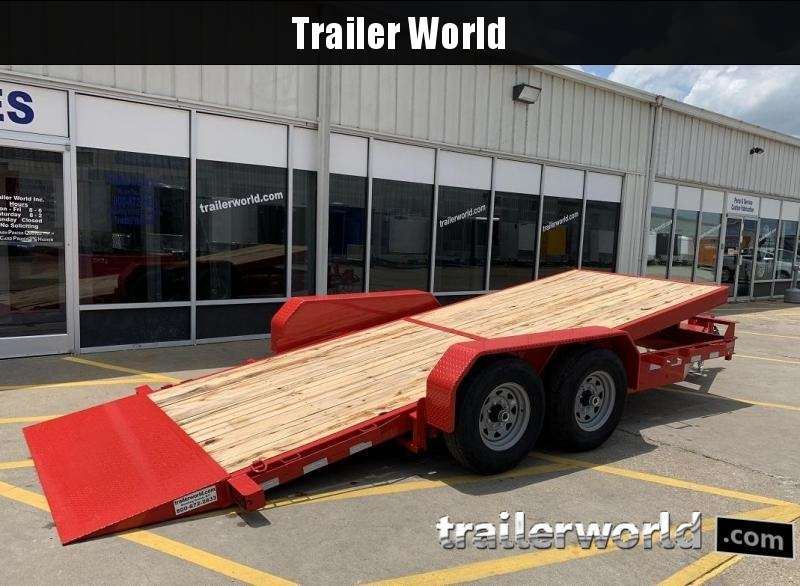 2020 Sure-Trac 18' Tilt Bed Equipment 14k GVWR Oak Deck