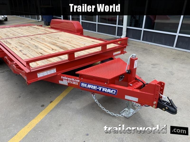 2020 Sure-Trac 18' Tilt Bed Equipment 14k GVWR Oak Deck