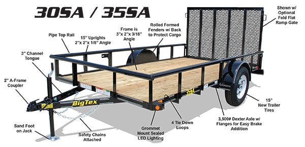 Open Utility Trailers | Trailer World of Bowling Green, Ky | New and ...