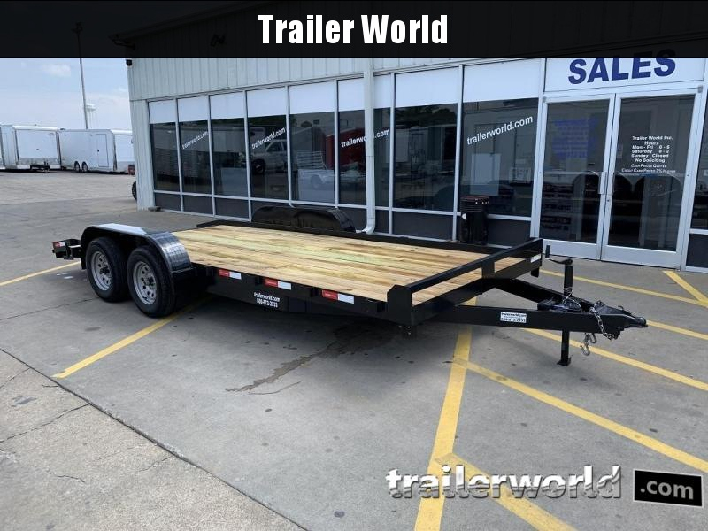 2019 Lawrimore 18' Open Car Hauler Flatbed Trailer