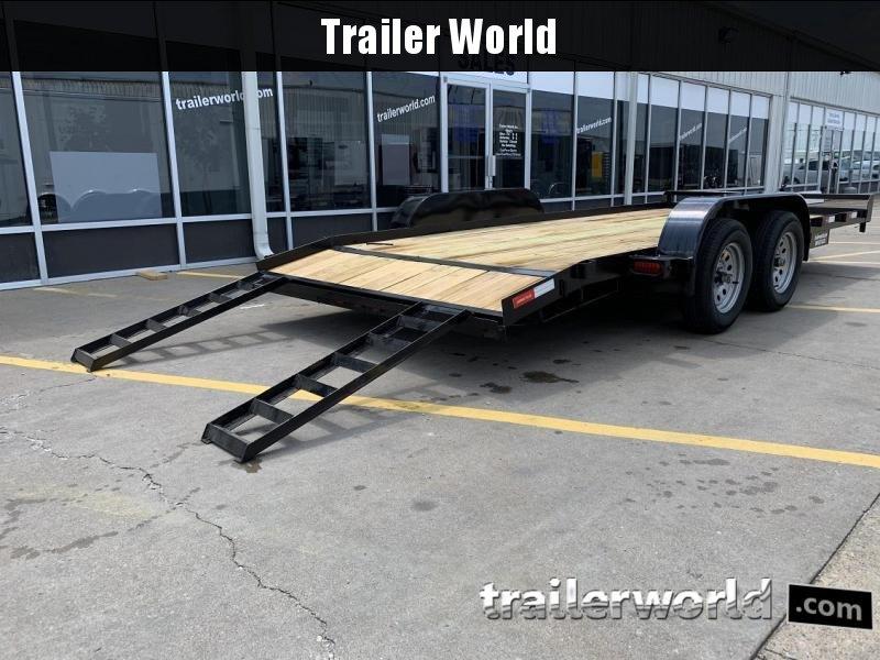 2019 Lawrimore 18' Open Car Hauler Flatbed Trailer