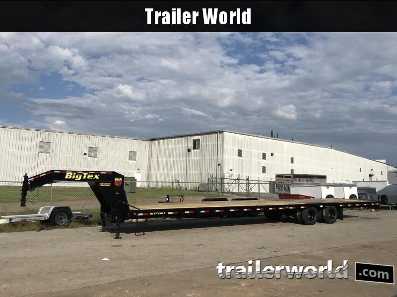 2019 Big Tex 22GN-40' Gooseneck Flatbed Trailer Slide-In Ramps
