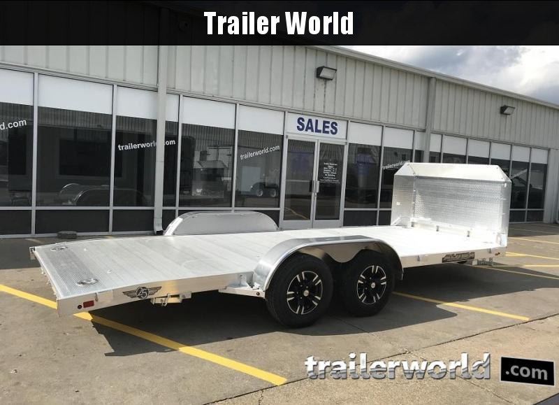 2019 Aluma 8218B Aluminum Open Car Trailer