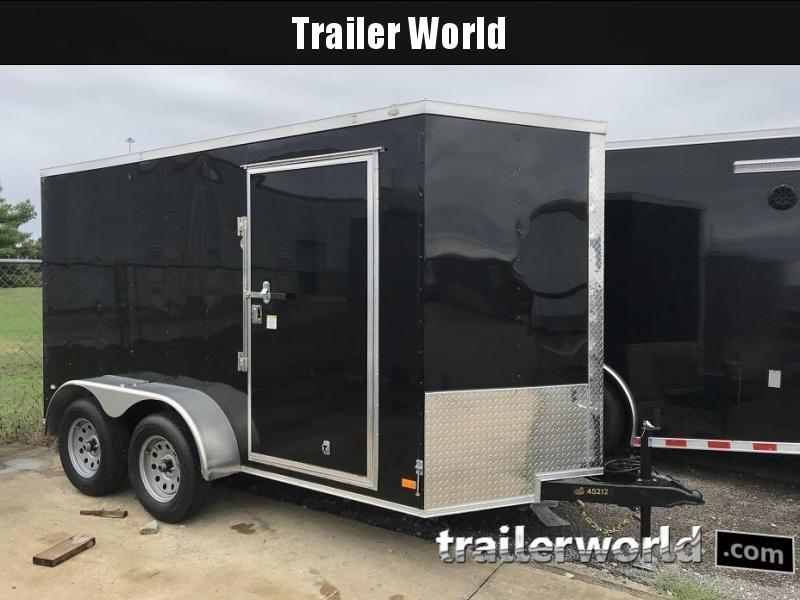 2019 CW 6' x 12' x 6.3' Vnose Tandem Enclosed Trailer Ramp Door
