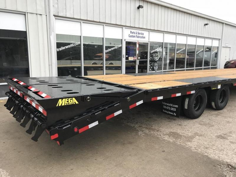 2019 Big Tex 25GN-35' + 5' Gooseneck Trailer 25900 GVWR MEGA Ramps