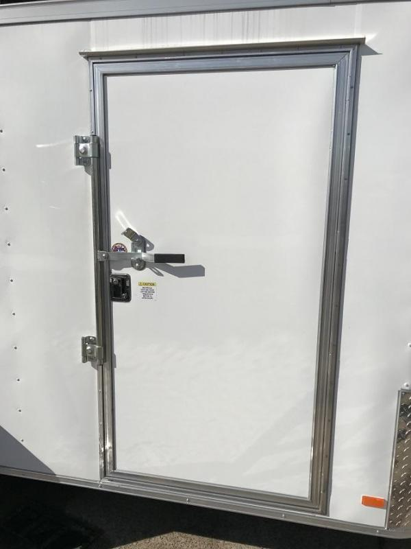 """2018 CW 6' x 12' x 6'6"""" Vnose Enclosed Cargo Trailer w/ D-Rings"""