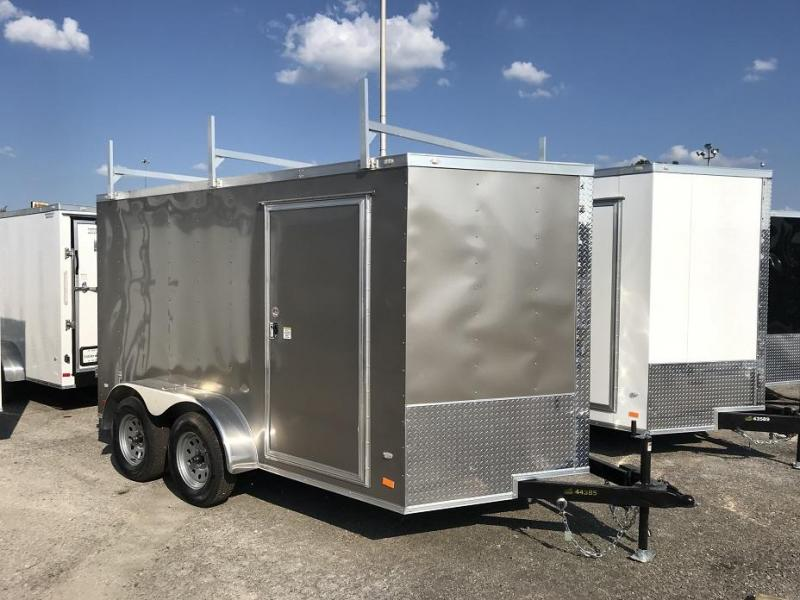 2018 CW 7' x 12' x 6.3' Cargo Vnose Enclosed Trailer Double Doors