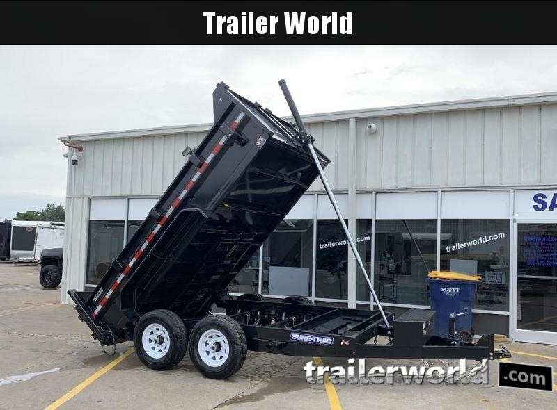 2020 Sure-Trac 12' Telescopic Dump Trailer 12K GVWR