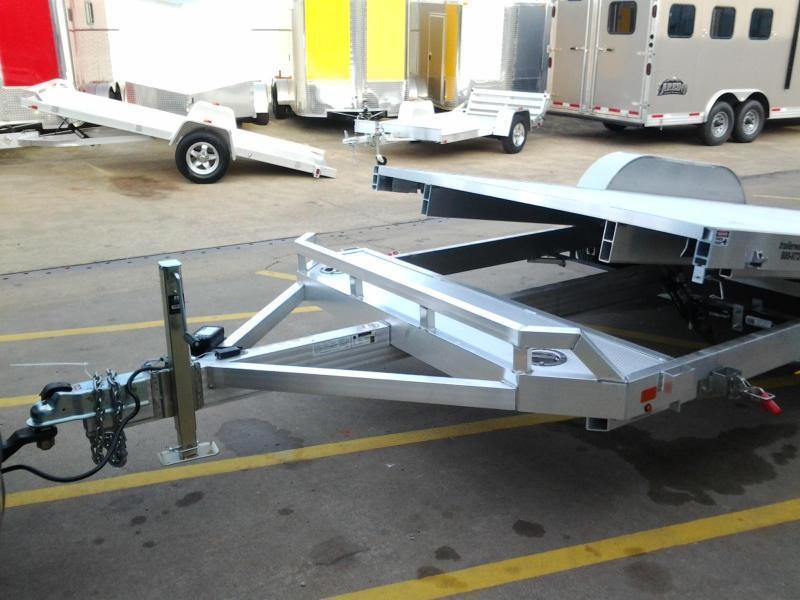 2019 Aluma 8220H Tilt Bed Aluminum Open Car Hauler Trailer 10k GVWR