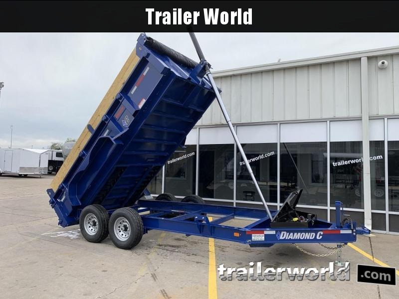 2019 Diamond C 24LPT 14' Telescopic Dump Trailer Low Profile  in Ashburn, VA