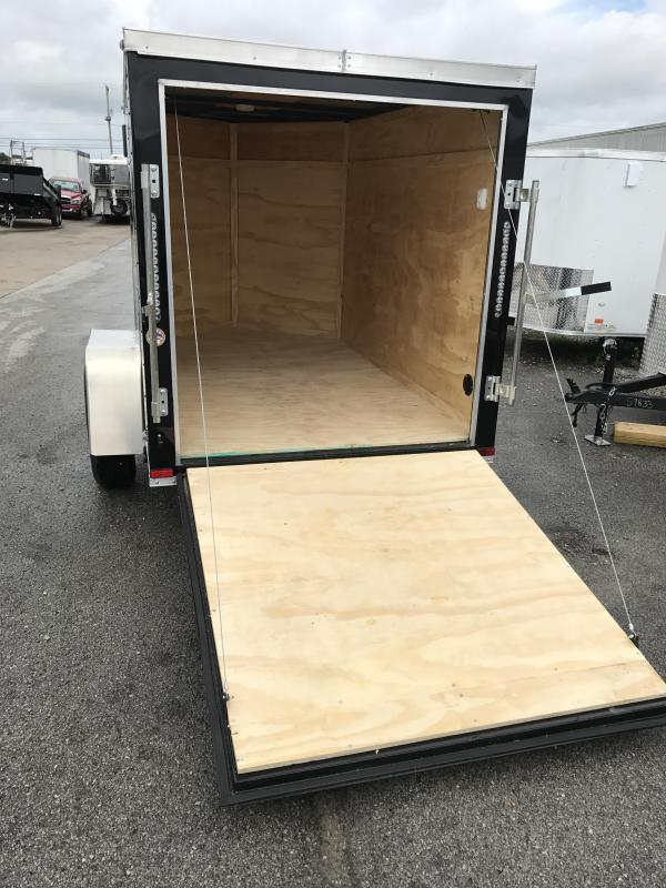 2018 Lark 5\u0027 x 8\u0027 Enclosed Vnose Cargo Trailer R& Door & 2018 Lark 5\u0027 x 8\u0027 Enclosed Vnose Cargo Trailer Ramp Door | Trailer ...