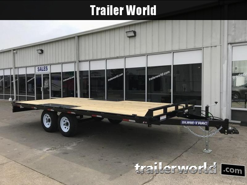 2019 Sure-Trac 8 5 X 18 Flat Deck Deckover 10k gvwr