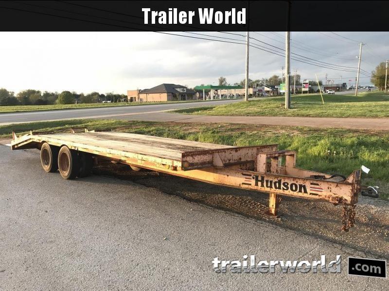 1995 Hudson Brothers 18' Pintle 9 Ton Equipment Trailer