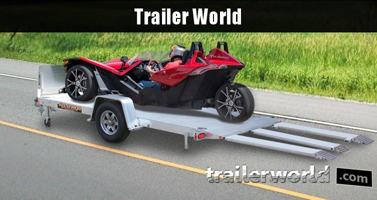 2018 Aluma 8214HS 14' Single Axle Aluminum TILT SLINGSHOT TRAILER
