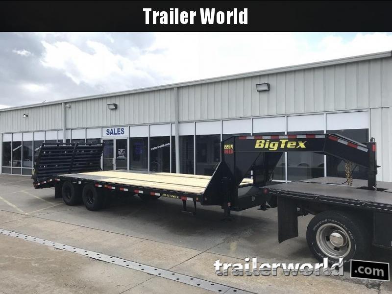 2019 Big Tex Trailers 22GN-28' + 5' Gooseneck Flatbed Trailer MEGA RAMPS