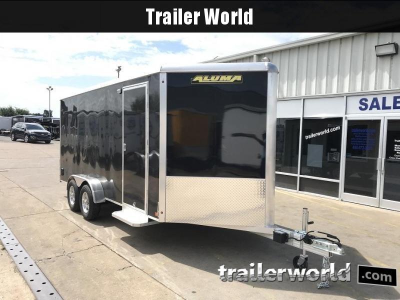 """2019 Aluma AE716  7' x 16' x 6'9"""" Aluminum Enclosed Cargo Trailer"""