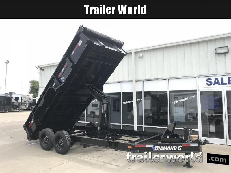 2018 Diamond C 24LPD 16' Dump Trailer Low Profile Commercial Grade 18k GVWR