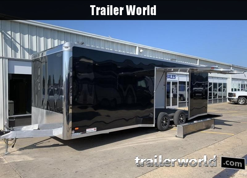 2020 Bravo Star 24' Aluminum Enclosed Car Trailer w Full Access Door